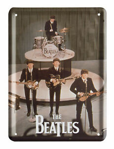 The Beatles GET BACK ON STAGE Metal Sign Steel Small Fridge Magnet (8cm x 11cm)