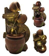Jug pots Garden Pump Fountain DEL Lights en cascade Outdoor Water Feature Patio