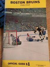 Big Bad Boston Bruins 1968-1969 Yearbook Good Shape Shipped Media Mail