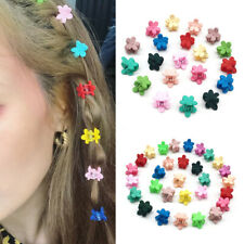 EE_ BH_ 20/30Pcs Girls Candy Color Flower Small Hair Claws Hairpins Hairclips Ne
