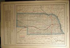 New Listing1919 Nebraska Kansas County Auto Road Map + Car Photo State Highway History