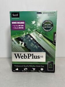 Serif WebPlus X6 Web Design Software Windows PC Website Maker New