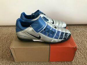 Vintage Nike Totalissimo II Turf US Size 11 Soccer Shoes Blue Gray Rare! T90 II