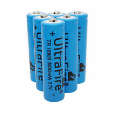 6 X 3.7V 18650 Li-ion 3800mah Rechargeable Battery for Flashlight Torch Headlamp