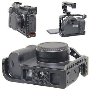 Camera Cage for Canon EOS R w/ Coldshoe 3/8 1/4 Thread Holes Arca Swiss Plate BS