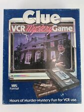 Vintage Clue VCR Murder Mystery Board Game VHS Parker Brothers Complete 1985