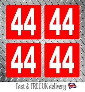 Kart Race Numbers including Background x 4 - MSA 2020 Compliant (RW) S3