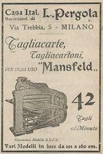 Z2001 Tagliacarte Mansfeld - L. Pergola - Pubblicità d'epoca - Advertising