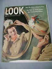 LOOK MAGAZINE APRIL 1 1947 EASTER HAT BETTER BABIES TEN LEADING KILLERS!