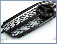Mesh Matte Black Replacement Front Grille Hood Fit 08-11 M Benz C63AMG W204 4Dr