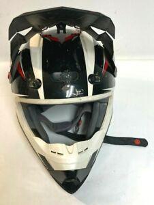No Fear Optimal II Red/Black/White Motocross Helmet