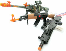 3x Toy Guns - Electronic Special Forces Rifle LMG Machine Gun Toy AK-47 Rifle