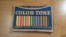 Vintage Color Tone Wax Crayons No. 9101 Sixteen Colors Colortone