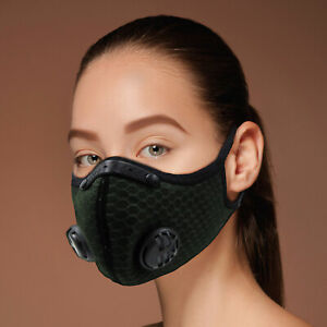 ReactFIT RF14 Face Mask Unisex Activated Carbon Filter Anti Pollution Washable