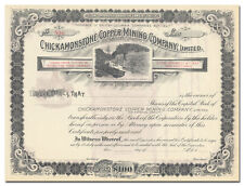 Chickamonstone Copper Mining Company Stock Certificate