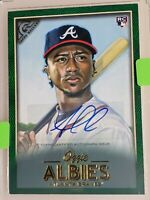 2018 Topps Gallery Green Ozzie Albies Autograph RC 42/99 Atlanta Braves Rare!