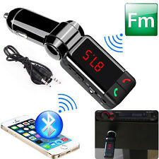 sans-fil Bluetooth Kit FM TRANSMITTEUR MP3 SD USB LCD main libre pour iPhone