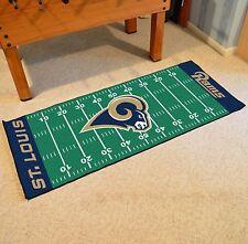 """St Louis Rams NFL Football Field Runner Man Cave Area Rug Mat 29.5""""x72"""""""