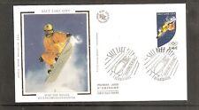 France 2002 SG3799 Yvert 3460 FDC (Albertville) Winter Olympics-Snowboarder-Salt
