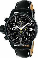 Invicta Lefty Reloj Hombre Leather Band Crystal Face Man Watch Lefthanded Hand