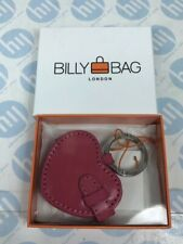Billy Bag Billybag London Pink Leather Heart Shaped Keyring with Photo Holder