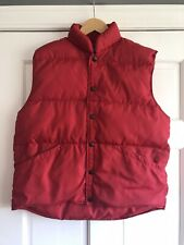 Lands End Red Quilted Goose Down Puffer Vest Size Medium