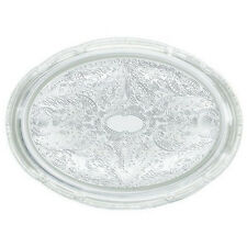 Winco Cmt-1014, 15x10x0.5-Inch Chrome Plated Oval Serving Tray with Engraved Edg