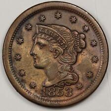 1853 Large Cent.  A.U.  116990