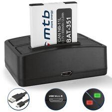 Bateria + Cargador doble NB-11L para Canon IXUS 240 HS/ PowerShot A2500, A2600