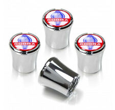Shelby Cobra Chrome Tire Valve Stem Caps Set of 4 Ford Mustang MADE IN USA
