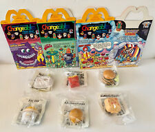 Set of 6 NSB 1988 New Food Changeables Happy Meal Toys + 3 New Different Boxes