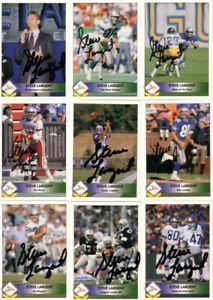 Steve Largent autographed signed autograph Seahawks 1992 Pacific 9 card set JSA