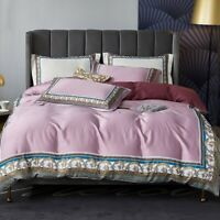 Satin Cotton 4pcs Bedding Set Silk Bohemia Duvet Cover Bed Linen Fitted Sheet
