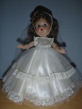 "Vintage! Vogue Brunette Ginny 8"" Walker Wedding / Bridal Doll Nice Beautiful"