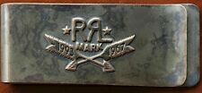 Genuine Double RL RRL Logo Oxidation Finishing Stains Metal Bank Note Money Clip