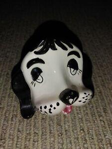 "Vintage Mid Century Ceramic Dog Head Shelf Sitter Figure 4¼"" x 3½"""