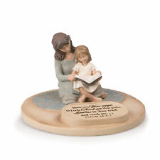 Mother And Daughter Teach Me Your Ways 6 x 4.5 Cast Stone Sculpture