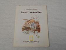 1980  MAP OF QUEBEC - NEWFOUNDLAND NATIONAL GEOGRAPHIC (28)