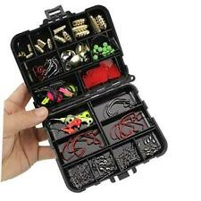 Fishing Terminal Tackle Box - Fishing Accessories Kit Hook, Weight, black