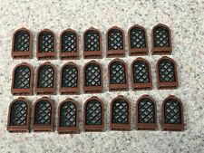 4 x lego 38320 Window Castle Black Black Castle Window 1x2x2 Pane Lattice New