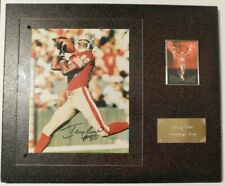 Jerry Rice Touchdown King Plaque w/ Trading Card + Signed 8x10 Photo - SF 49ers