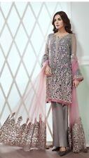 Indian Pakistani Jasmin Inspired  Net Salwar Kameez Only Fabric Color Varied