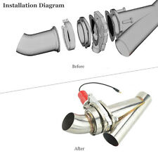 "3"" Electric Exhaust Catback Control Valve  Downpipe Cutout E-Cut Valve Remote-AU"