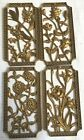 Set 4 Vintage Gold Resin Wall Hangings Art Floral Turner Mfg  Co  1960s Retro T1