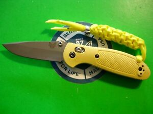"""NTSA BENCHMADE USA """"MINI GRIPTILIAN"""" 4 """" CLOSED AXIS LOCK POCKET KNIFE #556"""