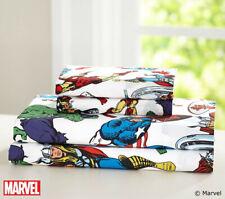 Pottery Barn Avengers Heroes Sheet Set Twin Sized Organic Marvel Comics Bedding
