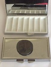 Roman Coin Claudius WC1 Pewter On Mirrored 7 Day Pill box Compact