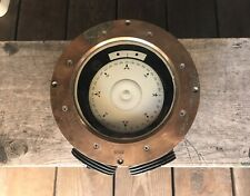 """Vintage Nautical Ships Brass Compass Dry Card Antique Maritime 8"""""""