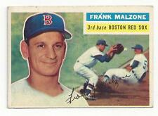 Frank Malzone 1956 Topps ML Trading Cards # 304 Red Sox