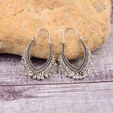 Boucles d'oreilles mode, style rétro bohème inde,  métal argent, neuves